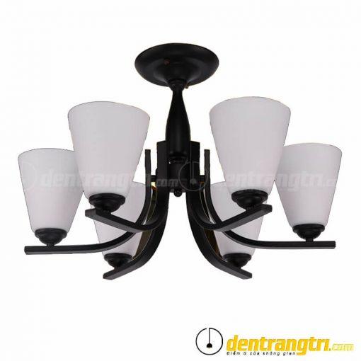 Đèn Ốp Trần 6 Cánh Thủy Tinh Đục - DOT00090.6