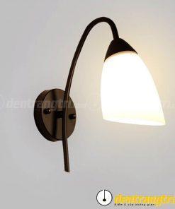 Đèn Vách Hoa Chuông Đế Đen - DV00149