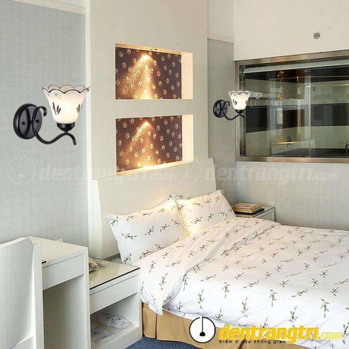 Đèn Vách Hoa Chuông Viền Đen - DV00162