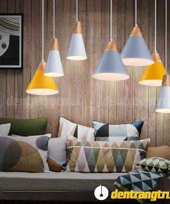 Đèn Thả Chóp Gỗ Pastel - DT00037