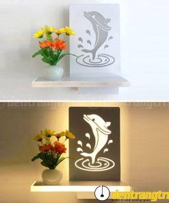 Đèn Vách Cá Heo Phối Hoa - DV00124