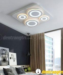 Đèn Ốp Trần Hình Vuông Hoạ Tiết Tròn - DOT00081