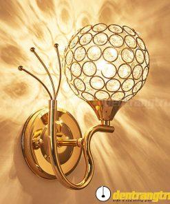 Đèn Vách Pha Lê Đuôi Công - DV00005