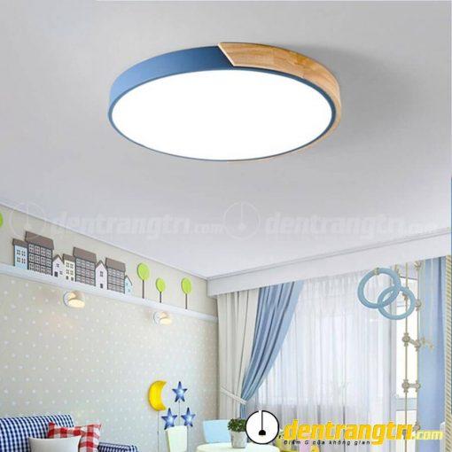 Đèn Ốp Trần Tròn Phối Gỗ - DOT00097
