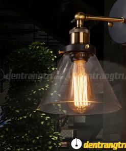 Đèn Vách Thủy Tinh Đế Đồng - DV00056