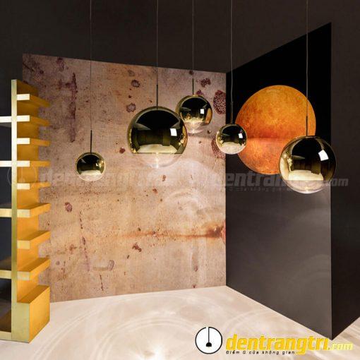 Đèn Thả Châu Tròn Thủy Tinh Vàng - DT00108.15 VA