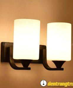 Đèn Vách Chao Trụ Đế Đen Đôi - DV00152.2