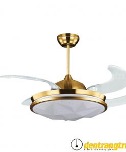Đèn Quạt Hiện Đại Vàng Kim - 44WE-6004