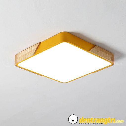 Đèn Ốp Trần Vuông Phối Gỗ - DOT00095