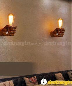 Đèn Vách Nắm Tay Gỗ - DV00019