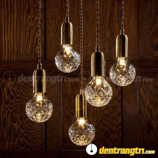 Đèn Thả Thủy Tinh Chuôi Vàng - DT00112