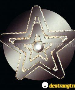 Đèn Ốp Trần Pha Lê Ngôi Sao 2 Tầng - DOTVK 3836